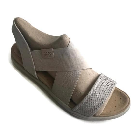 e747c0ae883a ECCO Women s Damara Strap Flat Sandal Sz 9-9.5